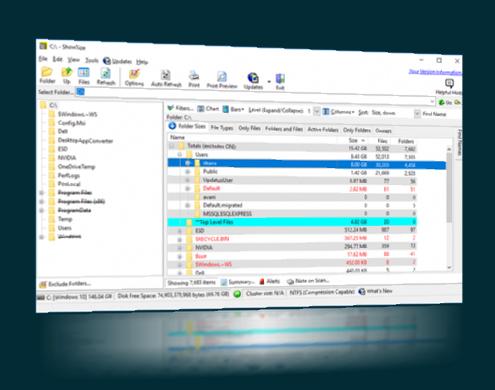 ShowSize File Explorer